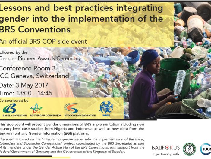 3 mai 2017: WECF organise un side-event sur le genre et les conventions chimiques lors de la triple COP 2017