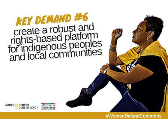 Les demandes clés de la Women and Gender constituency pour la COP 23