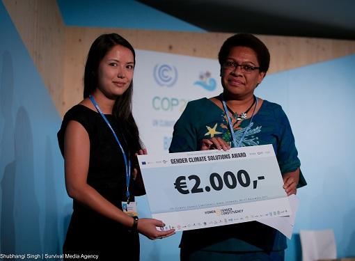 Cérémonie de remise du Prix Solutions Genre et Climat – COP23