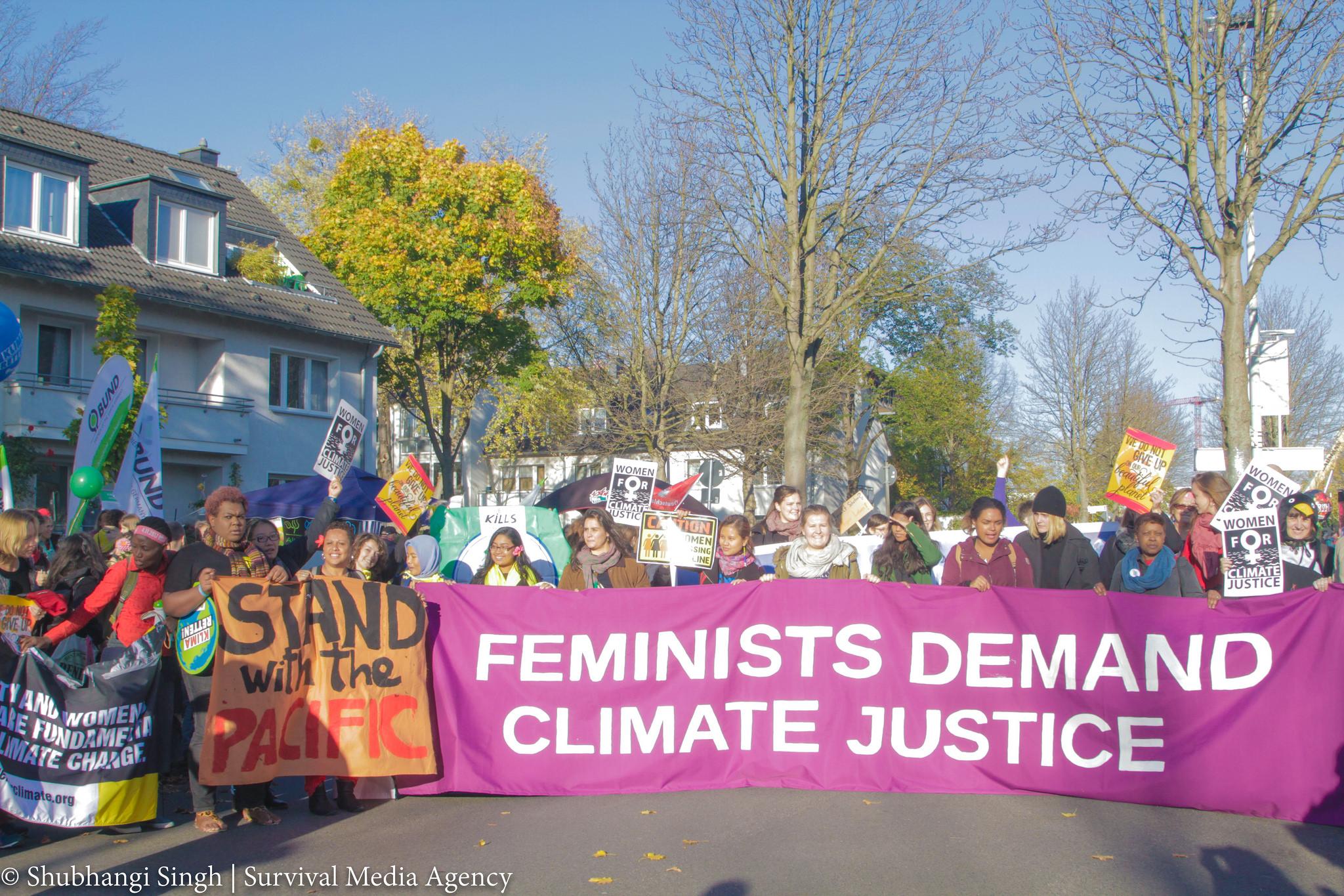 L' égalité entre hommes et femmes pour la justice climatique
