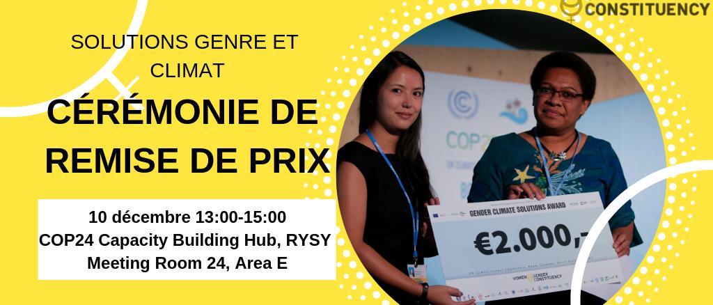 Participez à la 4ème édition du prix « Solutions Genre et Climat »