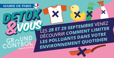 Les 28 et 29 septembre: WECF France participe à Detox&Vous organisé par la ville de Paris