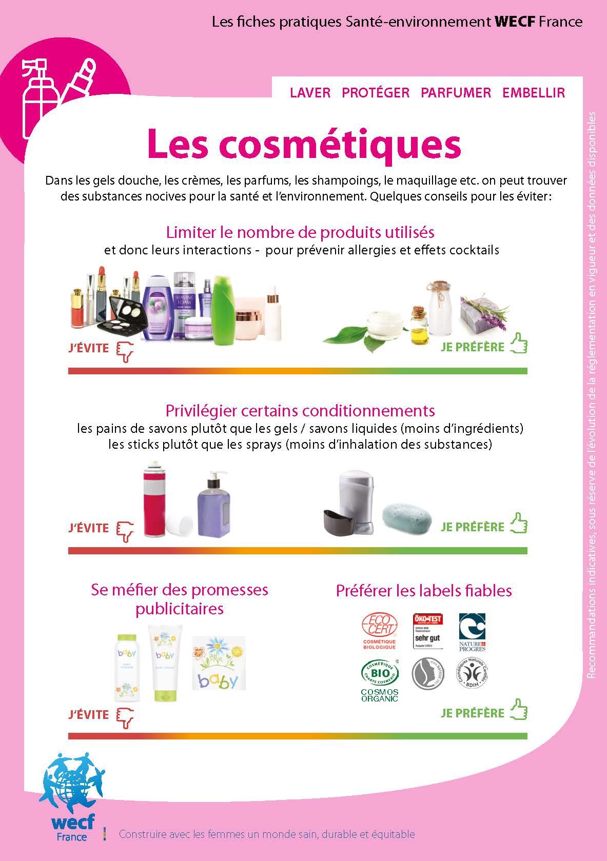 Fiche pratique – Les cosmétiques