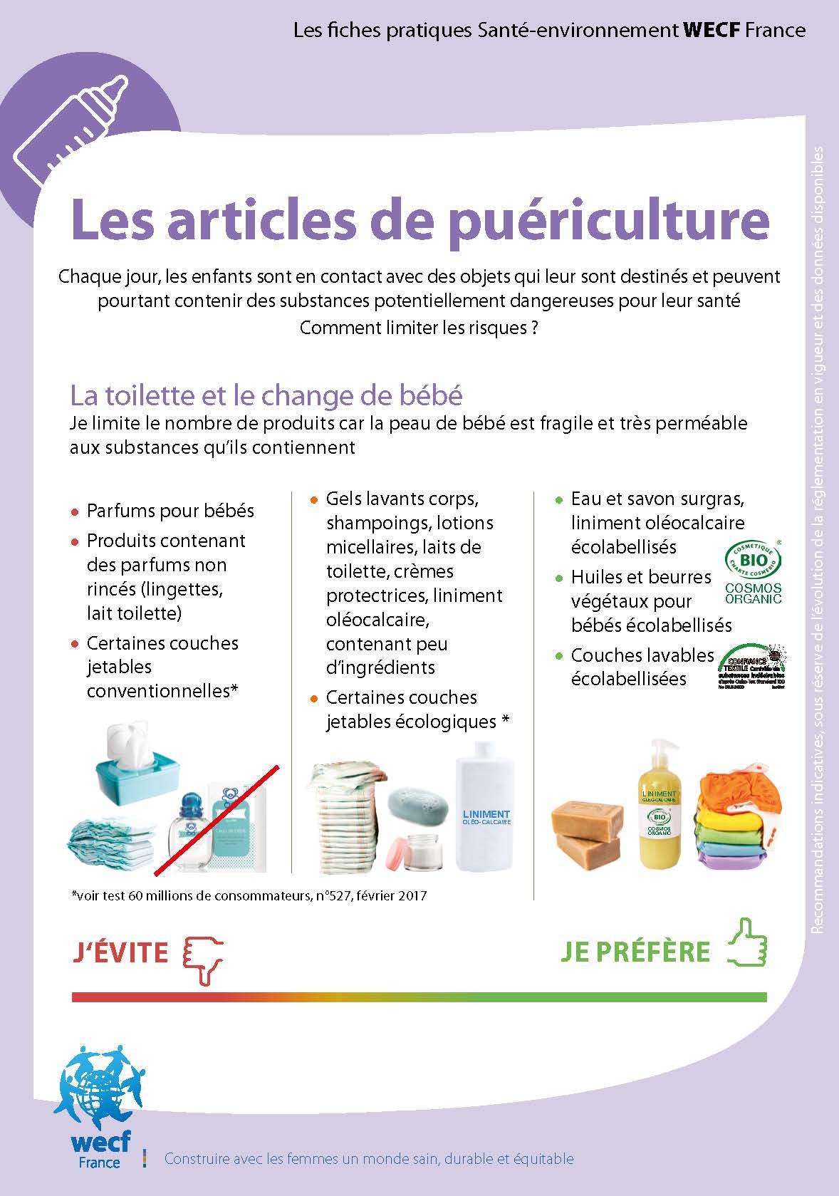Fiche pratique – Les articles de puériculture