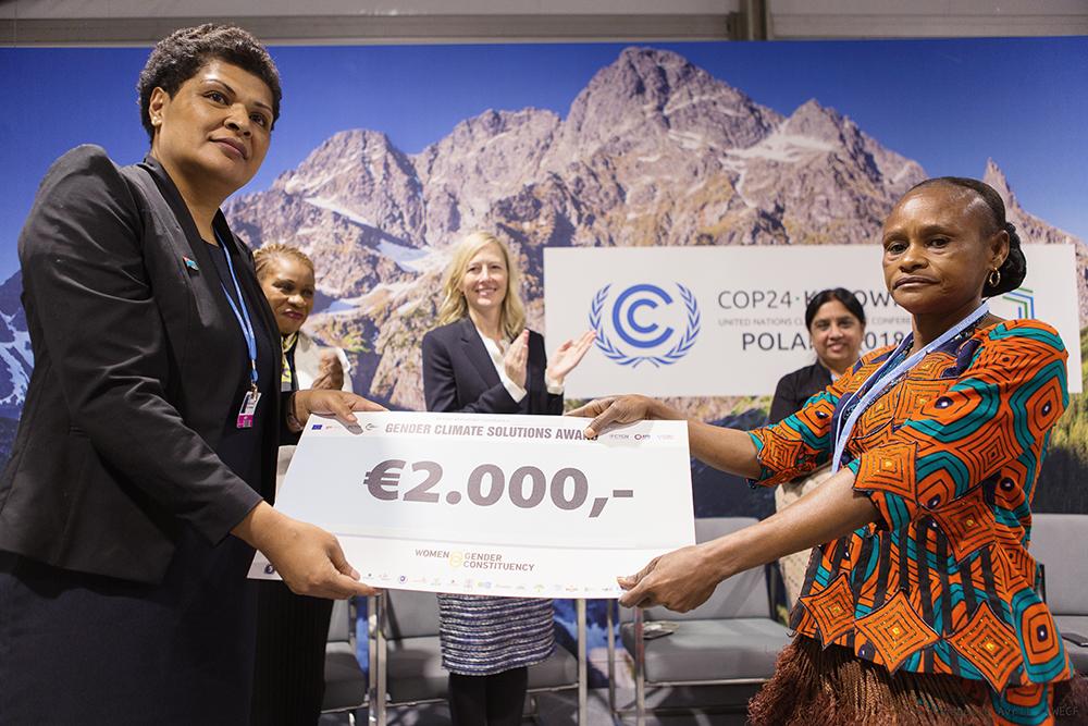 laureates du prix solution genre et climat