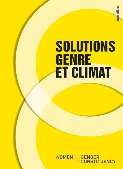 Communiqué de presse – Prix Solutions Genre et Climat