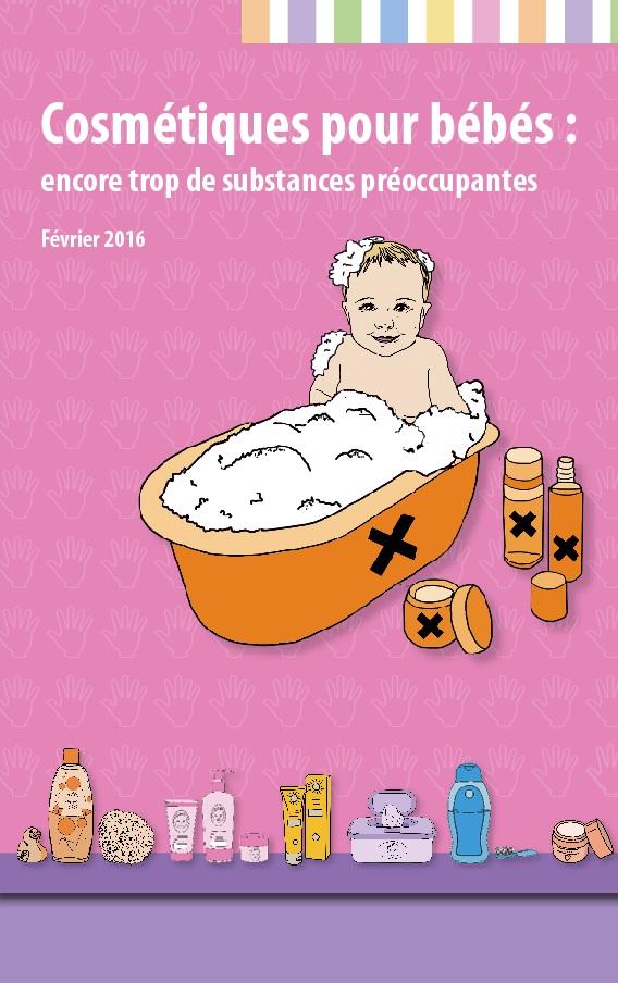 Communiqué – 15 février 2016 – Cosmétiques bébés: encore trop de substances préoccupantes