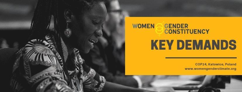 Les demandes clés de la Women and Gender Constituency à la COP24 (FR)