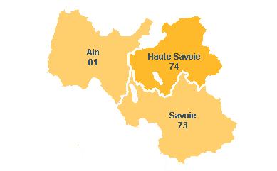 Région Rhône-Alpes avec la Haute-Savoie
