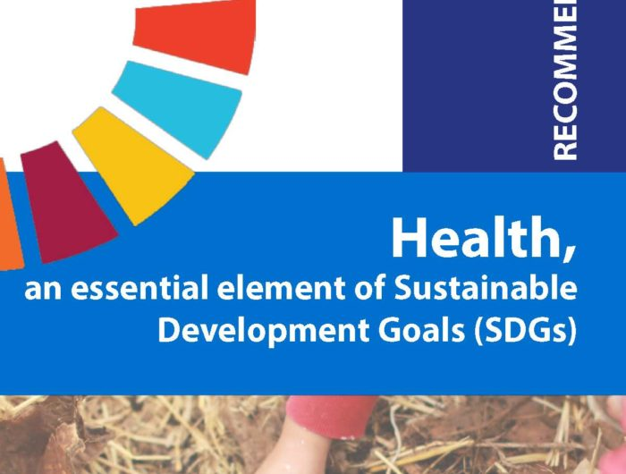 Recommandations – Health, an essential element of Sustainable Development Goals (SDGs)