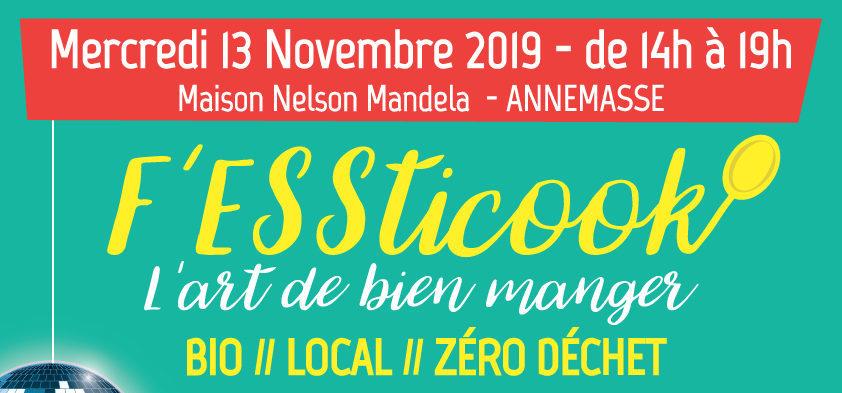 """F'ESSTICOOK, """"l'art de bien manger"""" le 13 novembre – Maison Nelson Mandela à Annemasse"""