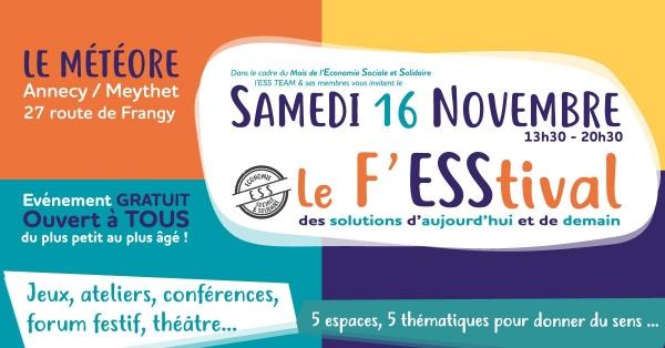 Wecf France sera au F'ESStival le 16 novembre au Météore de Meythet!