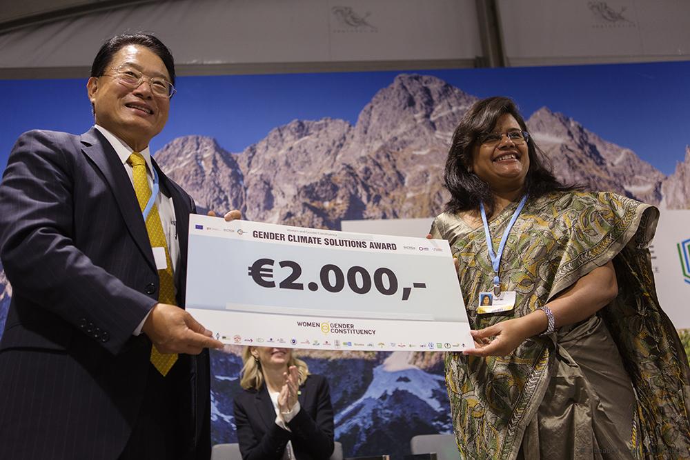 Cérémonie annuelle de remise du Prix Solutions Genre et Climat – COP25 à Madrid