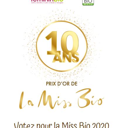 Prix d'or de la Miss Bio 2020