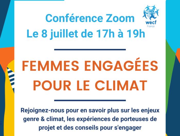 """Conférence grand public """"Femmes engagées pour le climat"""" le 8 juillet"""