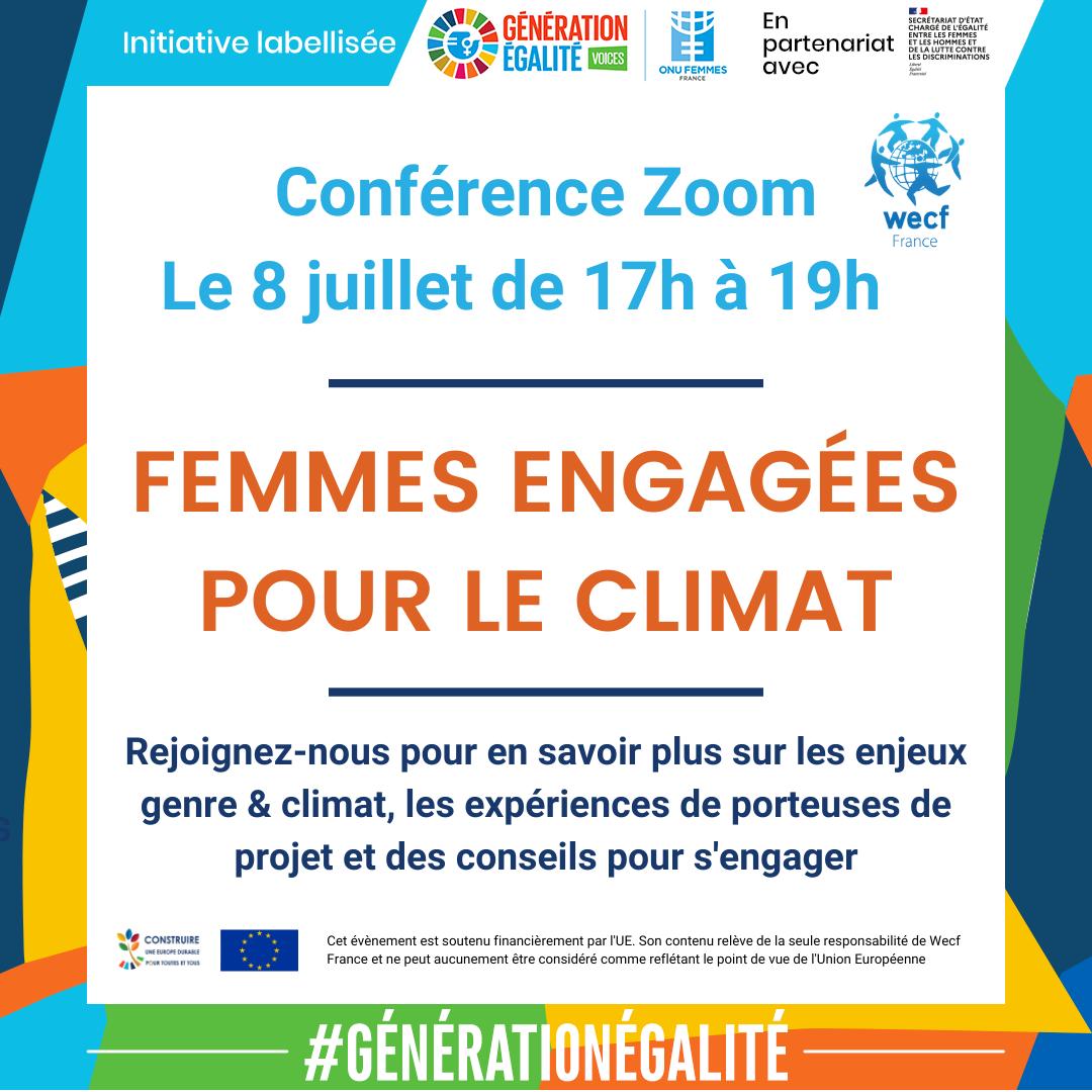 """Conférence grand public """"Femmes engagées pour le climat"""""""