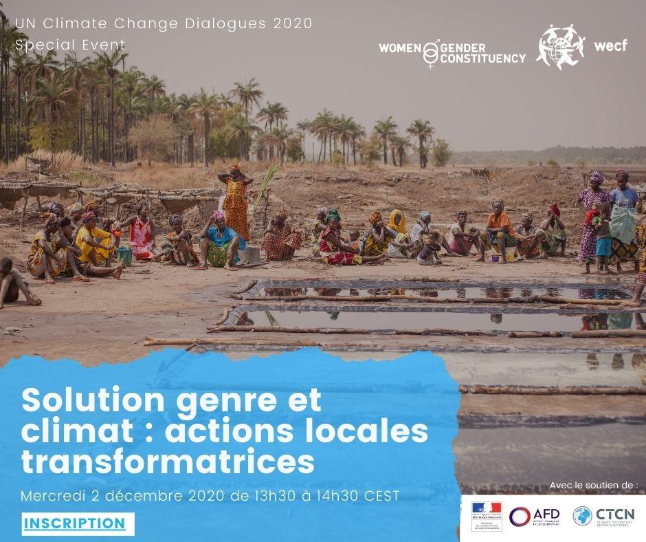Solutions genre et climat: actions locales transformatrices