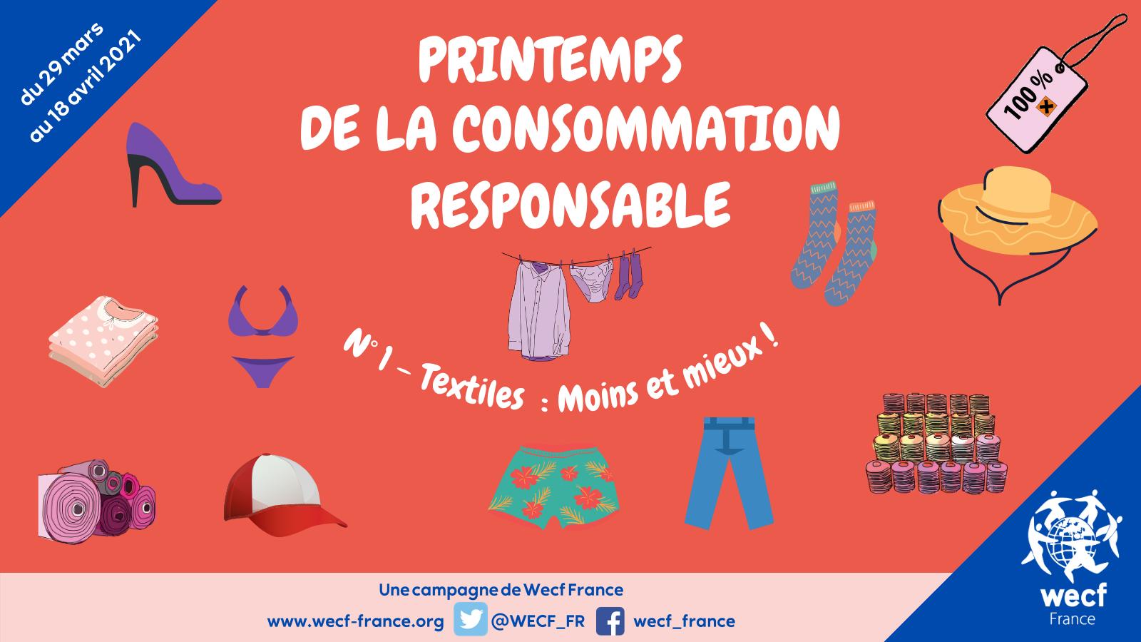 Printemps de la consommation responsable – N°1 : les textiles