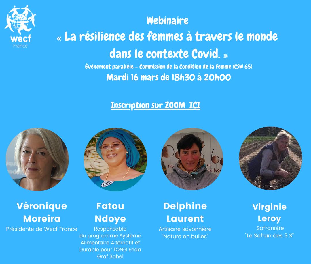 Webinaire : « La résilience des femmes à travers le monde dans le contexte Covid»