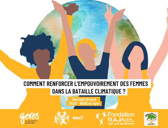 Visuel Facebook Conférence empouvoirement des femmes dans la bataille climatique