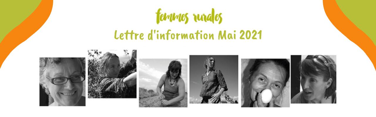 Lettre d'infos Femmes rurales_Mai 2021